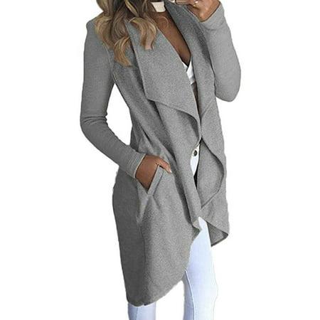 Hirigin Womens Long Sleeve Polyester Blazer Suit Casual Slim Fit Coat Jacket Outwear Polyester Suit Jacket