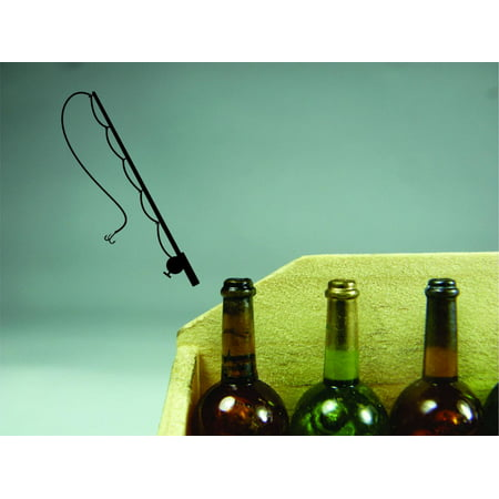 Custom Wall Decal Sticker Fishing Pole Outdoor Sports Wildlife Men Ho