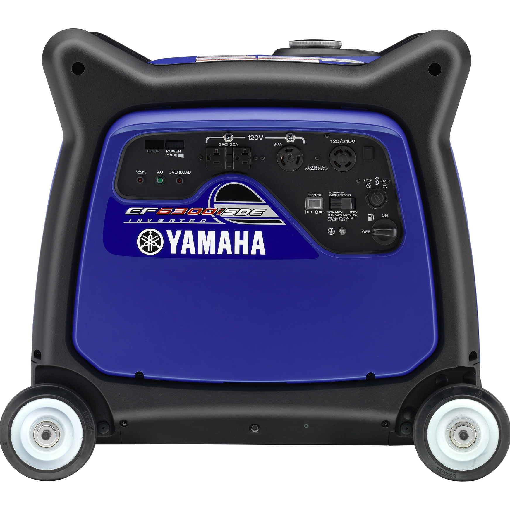 Yamaha EF6300iSDE 6300 Watt Electric Start Gas Power Portable Inverter Generator