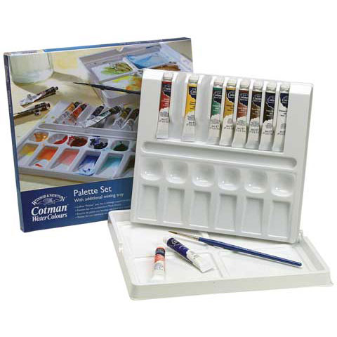 WINSOR & NEWTON Cotman Water Color Palette Set, New, Shipping