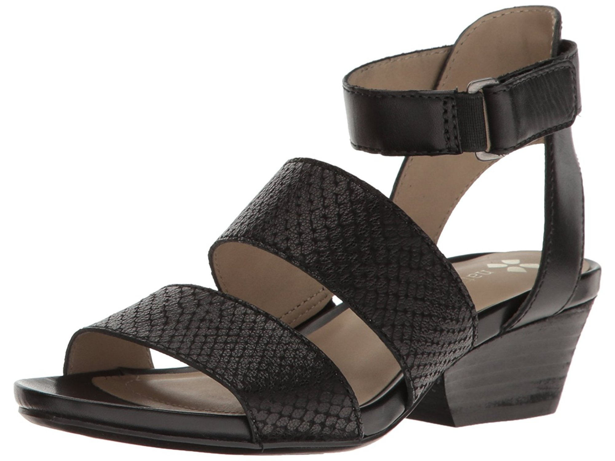 Naturalizer Womens Gracelyn Leather Open Toe Casual Ankle Strap Sandals by Naturalizer