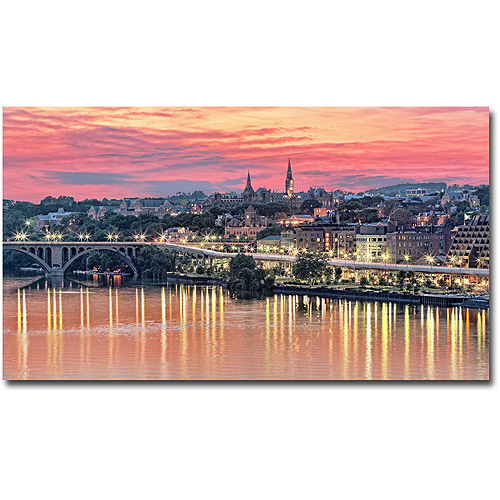 "Trademark Art ""Georgetown In Twilight"" Canvas Wall Art by Gregory O'Hanlon"