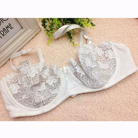 Womens Underwire Lace Bras Push Up Brassiere Plus Size Cup A B C D - image 1 of 1
