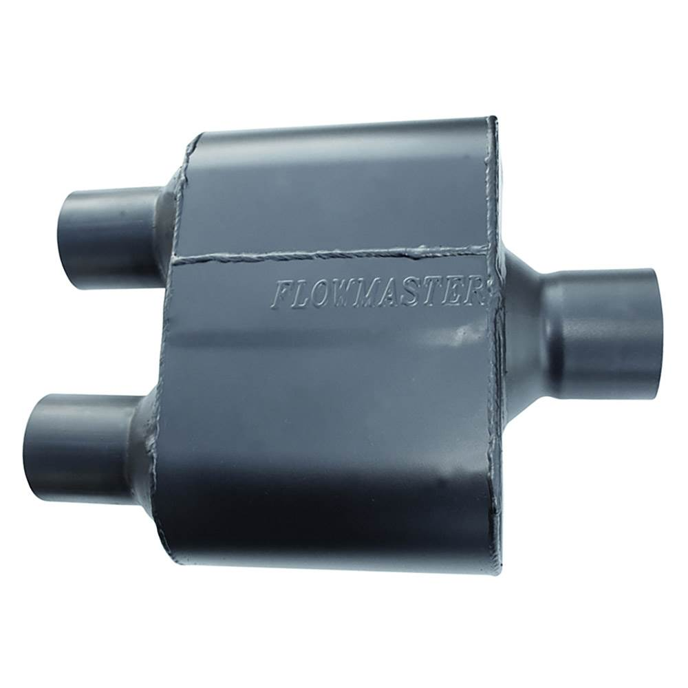 Flowmaster 8430152 Super 10 Muffler 409S Aggressive Sound 2.50 Dual OUT 3.00 Center IN