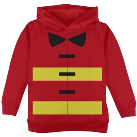 Halloween Fireman Costume Red Toddler Hoodie - Toddler Fireman Halloween Costume