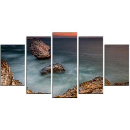 Design Art 'Big Rock Formations Near Tulenovo' 5 Piece Photographic Print on Wrapped Canvas Set
