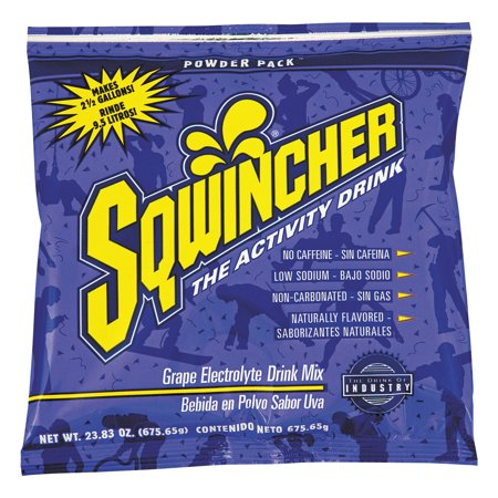 Sqwincher Drink Mix, Grape, 23.83 Oz, 32 Packets, 1 Count