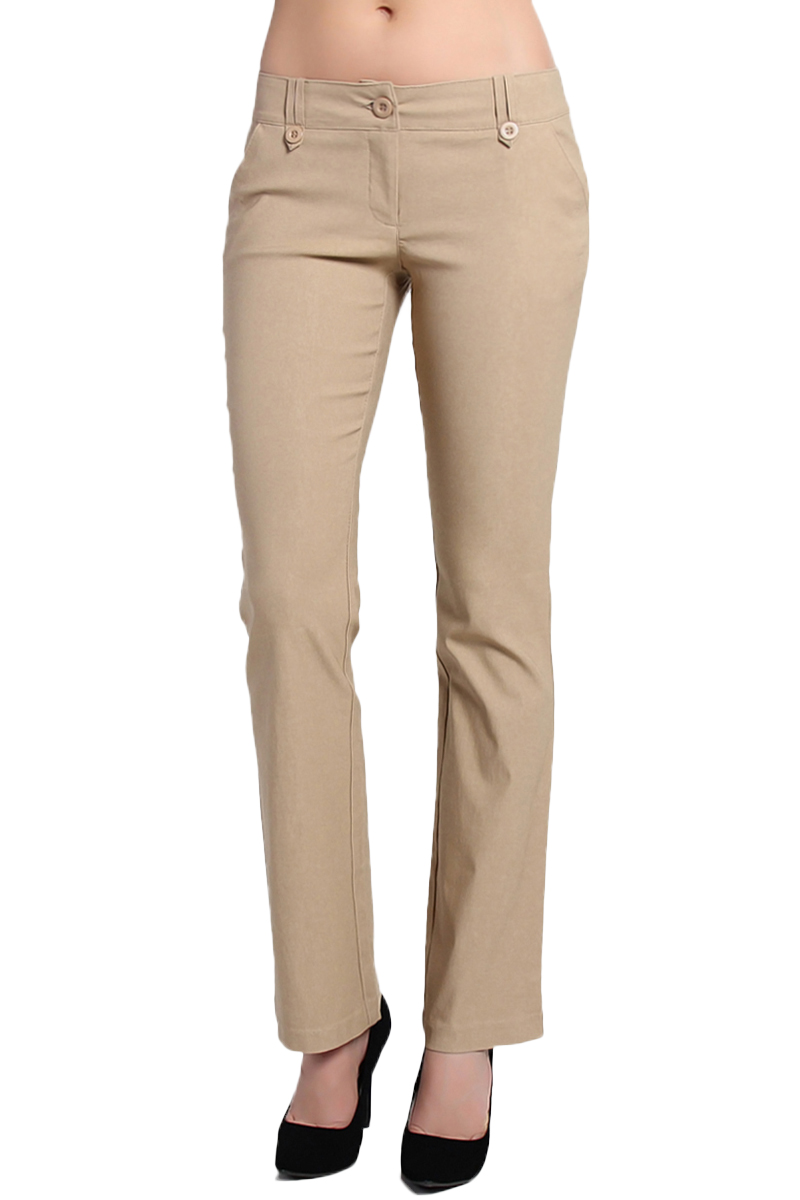 TheMogan Women's PLUS Work to Play Casual Dress Bootcut Stretch Trouser Pants