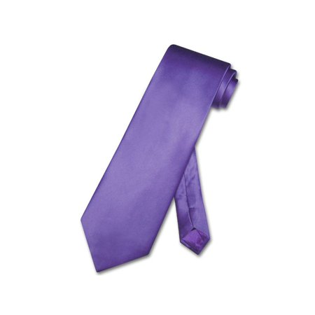 Purple Tire - Biagio 100% SILK NeckTie Solid PURPLE Indigo Color Men's Neck Tie