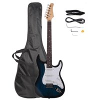 "Zimtown 39"" Beginner Rosewood Fingerboard Electric Guitar + Gig Bag + Cable + Strap + Picks"
