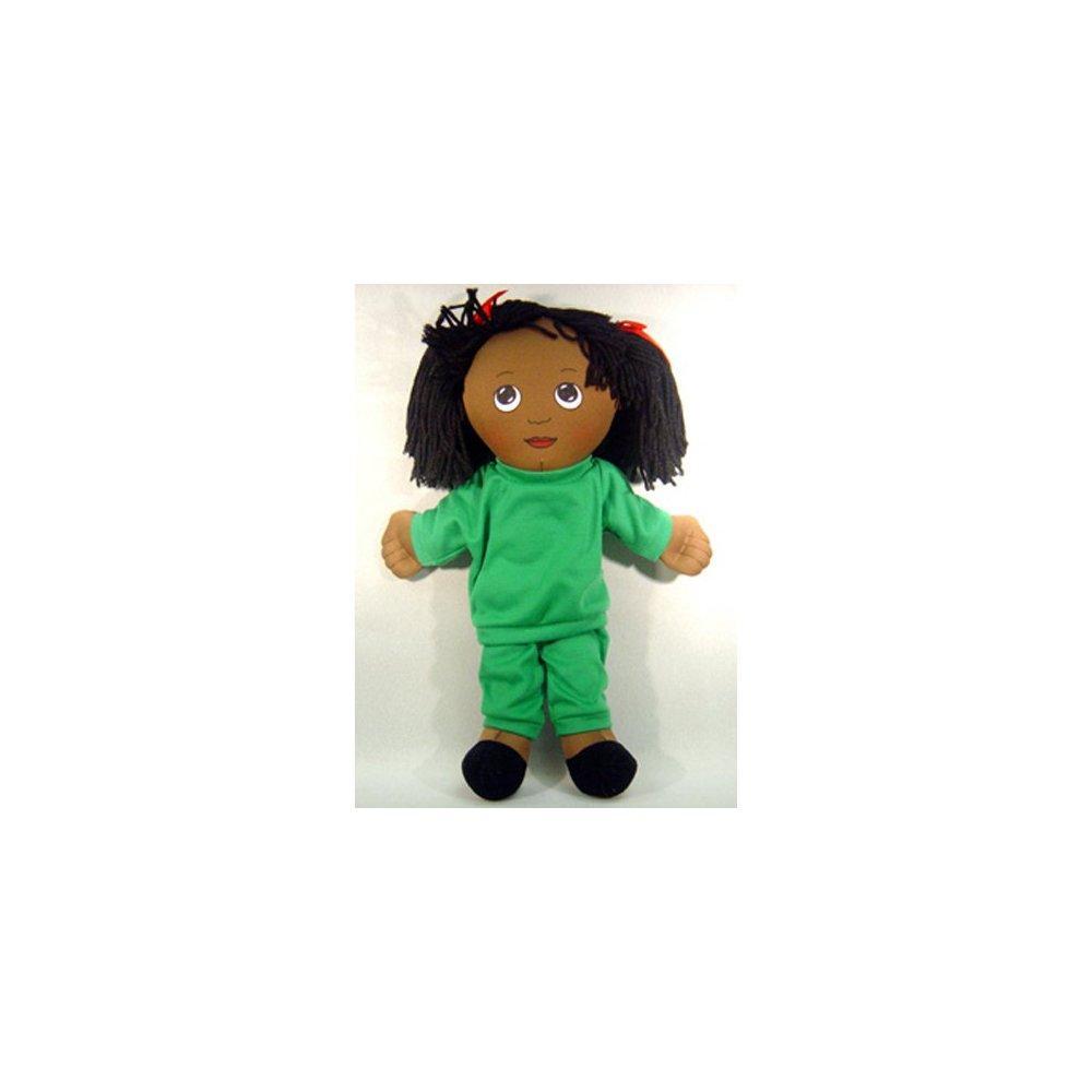 CHILDREN'S FACTORY fph733 dolls black girl doll sweat suit