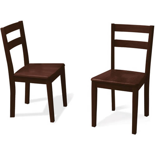 Mainstays Set of 2 Parsons Dining Chairs, Espresso
