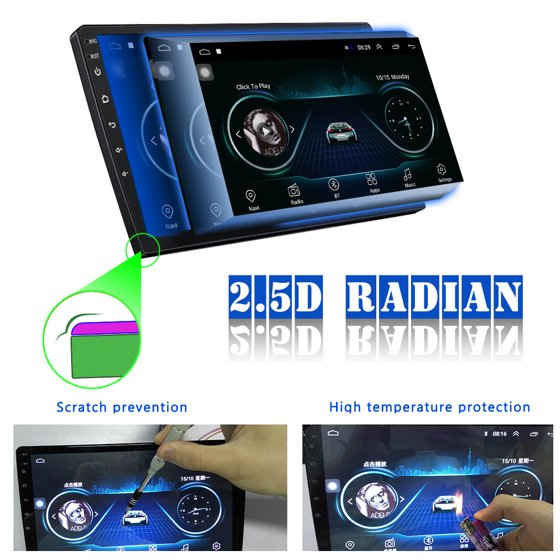 Android 8 1 1and 2 Din GPS Car Stereo Radio 10 1'' HD 1080P 2 5D Tempered  Glass Mirror Car MP5 Player with Bluetooth WIFI GPS FM Radio Receiver