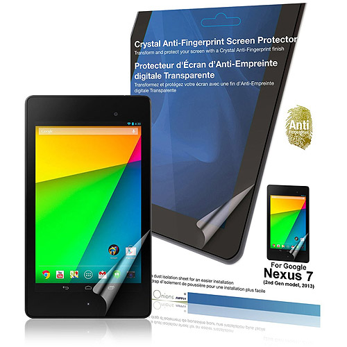 Green Onions Supply Crystal Anti-Fingerprint Screen Protector for Google Nexus 7 - 2013 (RT-SPGN72G01AF)
