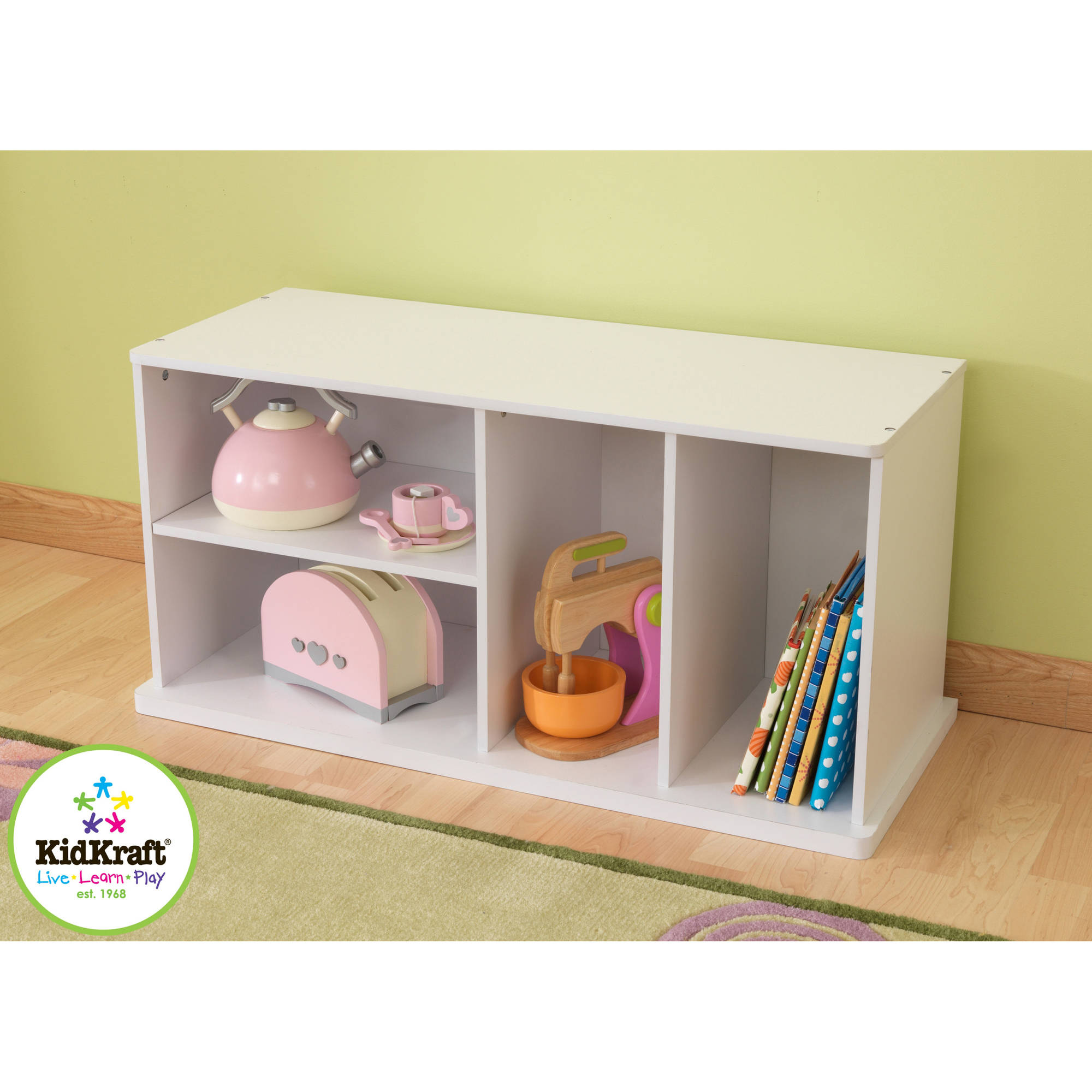 KidKraft Stackable Storage Unit with Shelves, Multiple Colors