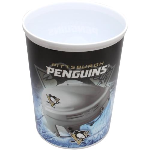 Pittsburgh Penguins Plastic Hockey Wastebasket - No Size