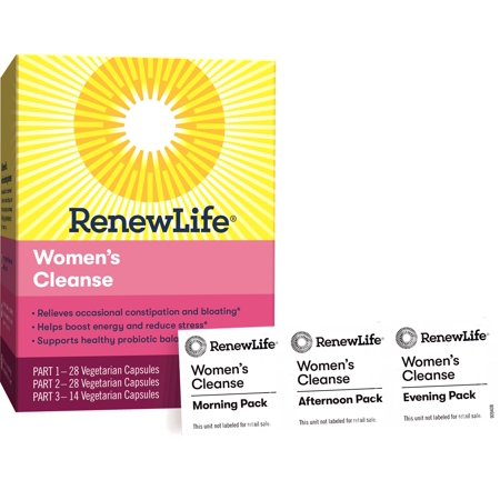 Renew Life - Flush & Be Fit - Woman's Care - detox & cleanse supplement for women - 14 day (Renew Life 3 Day Cleanse For Drug Test)