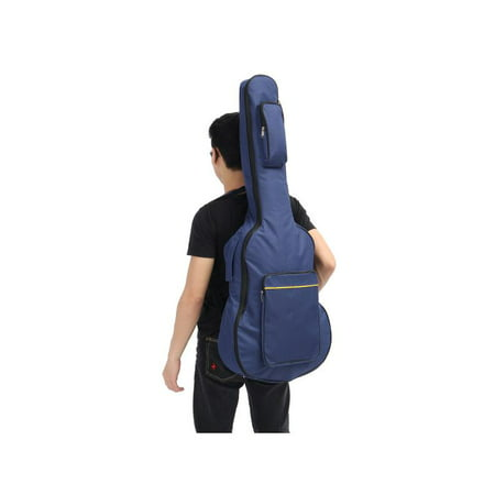 Classical Folk Guitar Case - 40/41'' Classical Acoustic Guitar Back Pack Carry Case Gig Bag Dual Strap Padded Water-Resistant