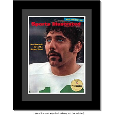 CreativePF [1114bk-b] Collectors Edition Sports Illustrated Frame, Displays up to 1970 Magazines Measuring 8 1/4 by 11-inches w/Black Mat-Measure Your Magazine Collectors Display Base