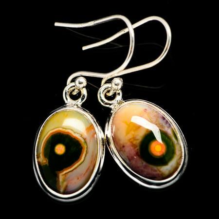 Ocean Jasper Earrings 1 3/8