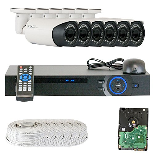 GW Security Inc VD6CHC5 8-Channel HDCVI DVR Camera System with 6 x 1/2.9 Inches HDCVI Color IR CCTV Security Camera