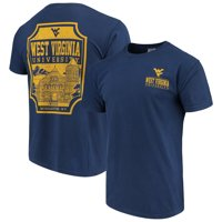 West Virginia Mountaineers Comfort Colors Campus Icon T-Shirt - Navy