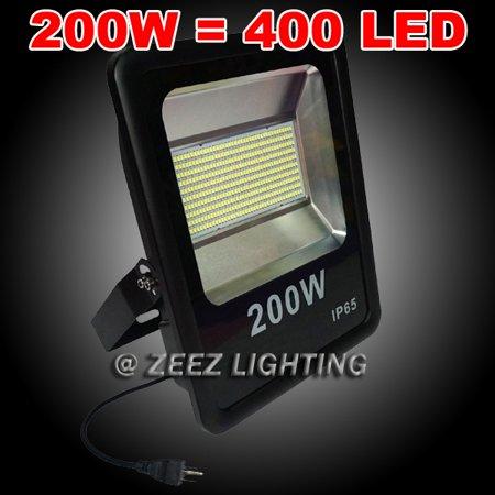 Zeez Lighting 200w Cool White Led Flood Light Outdoor Security Garden Landscape Wall Spot Lamp Yard Spotlight 1 Pack