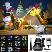 12 Pattern LED Moving Laser Projector Landscape Party Xmas Christmas Lights