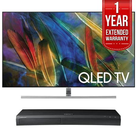 Samsung QN55Q7F - 55-Inch 4K Ultra HD Smart QLED TV (2017 Model) w/ Samsung  4K Ultra HD Blu-ray Player & 1 Year Extended Warranty