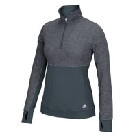 Adidas Womens climalite Twist 12 Zip Pullover Tee Athletic Run Fitness Jacket (Onix Grey, Small)