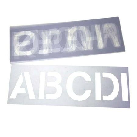 Alphabet Letter Stencil Set, 3-Inch, 6-Sheets](Halloween Alphabet Stencils)
