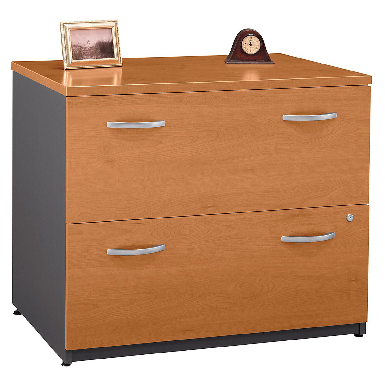 Bush Series C Lateral File Cabinet In Natural Cherry