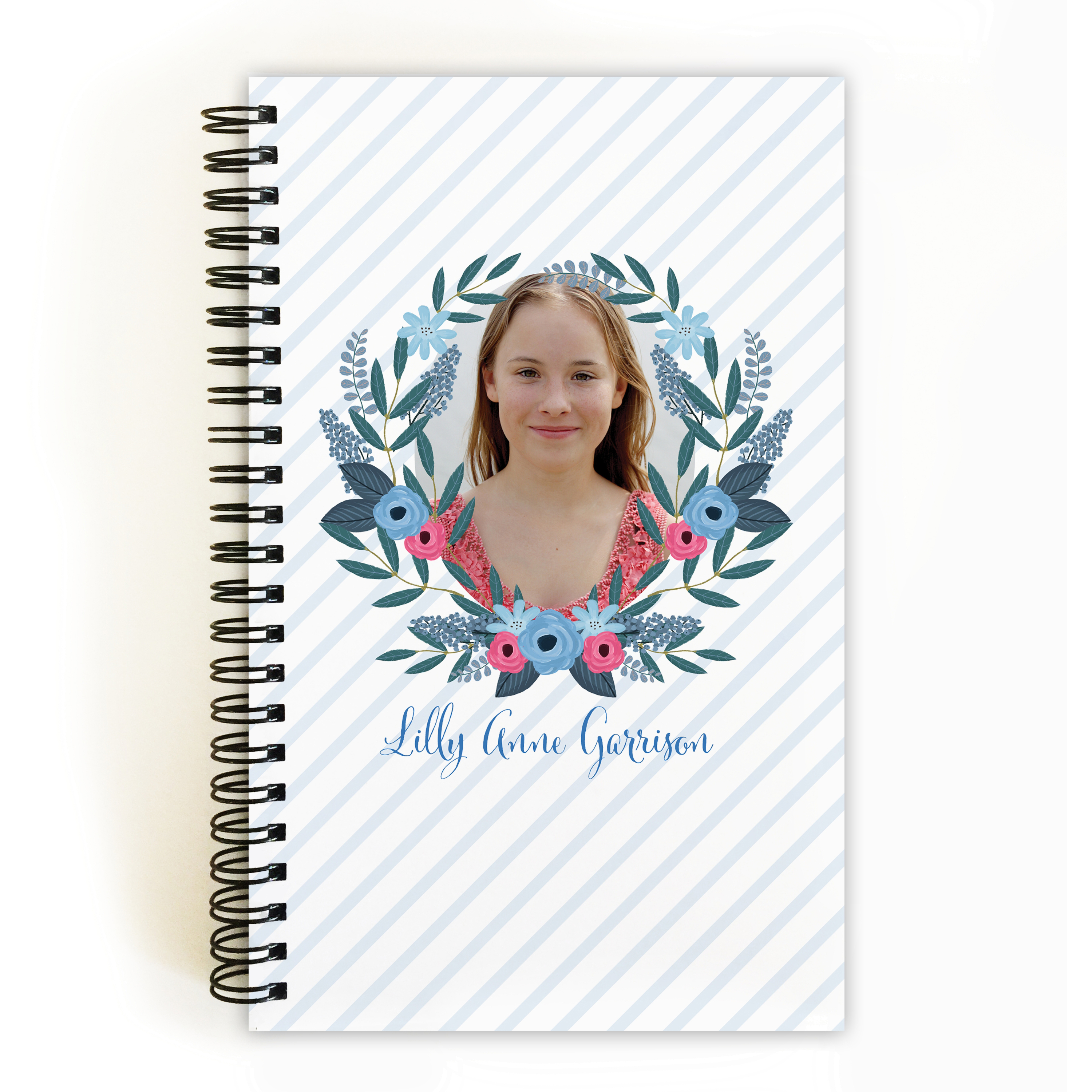 Spring Blooms - Personalized 5 x 8 Notebook