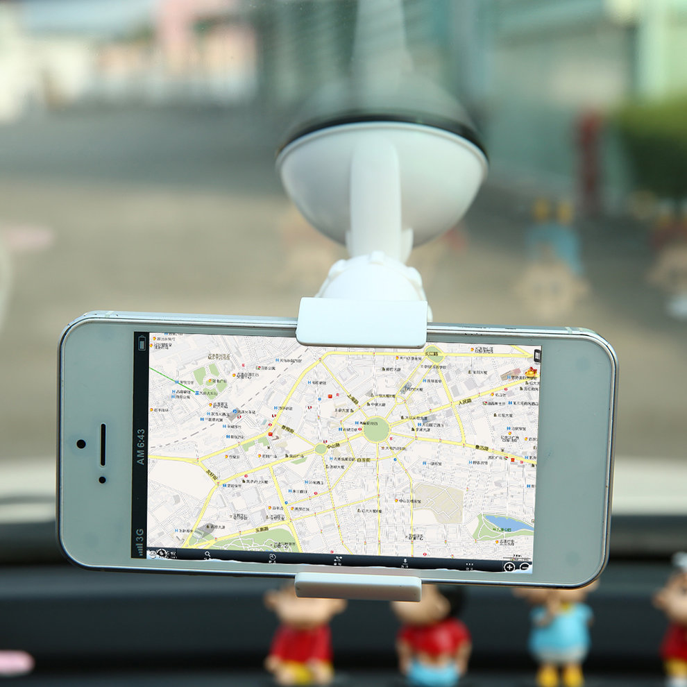Universal Short Arm / Neck 360 Degree Rotating GPS Navigation Car Windshield Mount Stand