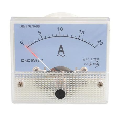 Unique Bargains Screw Mounted Current Measuring AC Amperemeter Panel Meter 0-20A