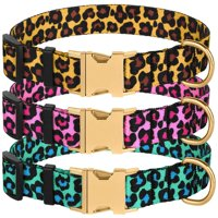 cc2ba8a216 Product Image Nylon Dog Collar with Metal Buckle Leopard Pattern Adjustable  Pet Collars for Medium Dogs, Mint