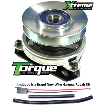 Bundle - 2 items: PTO Electric Blade Clutch, Wire Harness Repair Kit.  Xtreme Replacement PTO Clutch For Ogura MA-GT-JD24 Lawn Mower Upgrade w/ Wire Repair Kit