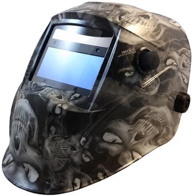 Hades White Hydro Dipped Auto Darkening Welding Helmets