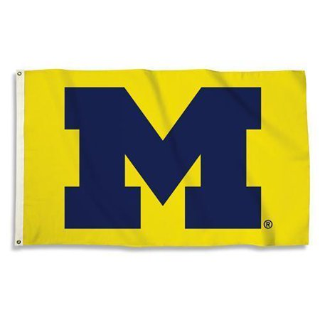 Michigan Wolverines 3 Ft. X 5 Ft. Flag W/Grommets  - Collegiate Licensed #95803