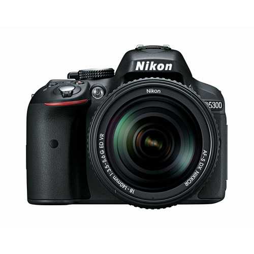 Nikon Black D5300 DSLR Camera Kit with 24.2 Megapixels and 18-140mm VR Lens Included