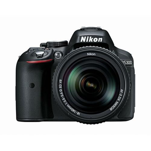 Nikon Black D5300 DSLR Camera Kit with 24.2 Megapixels and 18-140mm VR Lens Included
