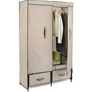 Honey-Can-Do Double-door Wardrobe with Two Drawers