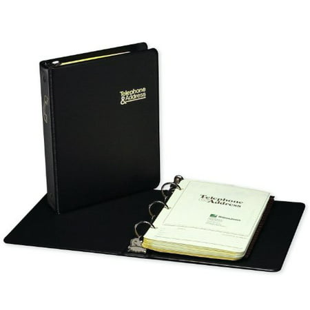 Wilson Jones Loose Leaf Phone And Address Book   3 Ring   1Each  812B