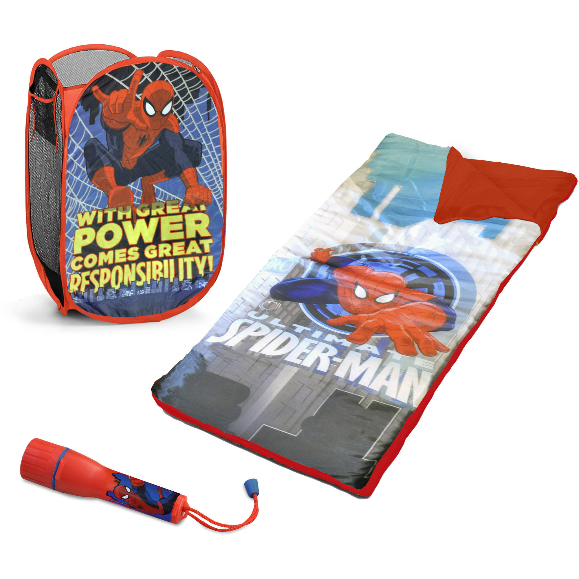 Marvel Spiderman Sleepover Set with BONUS Hamper