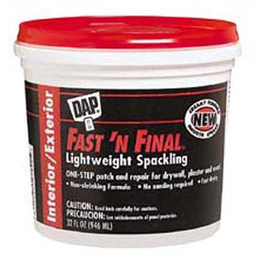Dap 12142 1-Quart Fast'N Final Spackling Interior and Exterior