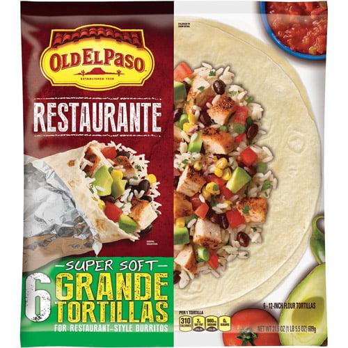 Old El Paso? Restaurante Grande Flour Tortillas 6 ct Bag