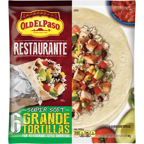 Old El Paso? Restaurante Grande Flour Tortillas 6 ct Bag