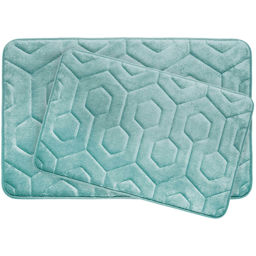 Bounce Comfort Hexagon Premium Memory Foam Bath Mat by YMF Carpets Inc.
