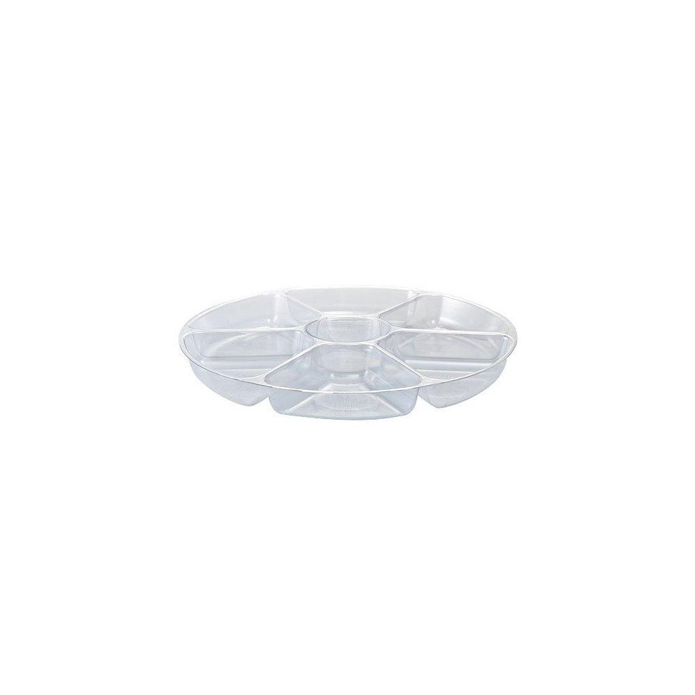 party dimensions 7-compartment plastic platter, 16-inch, ...