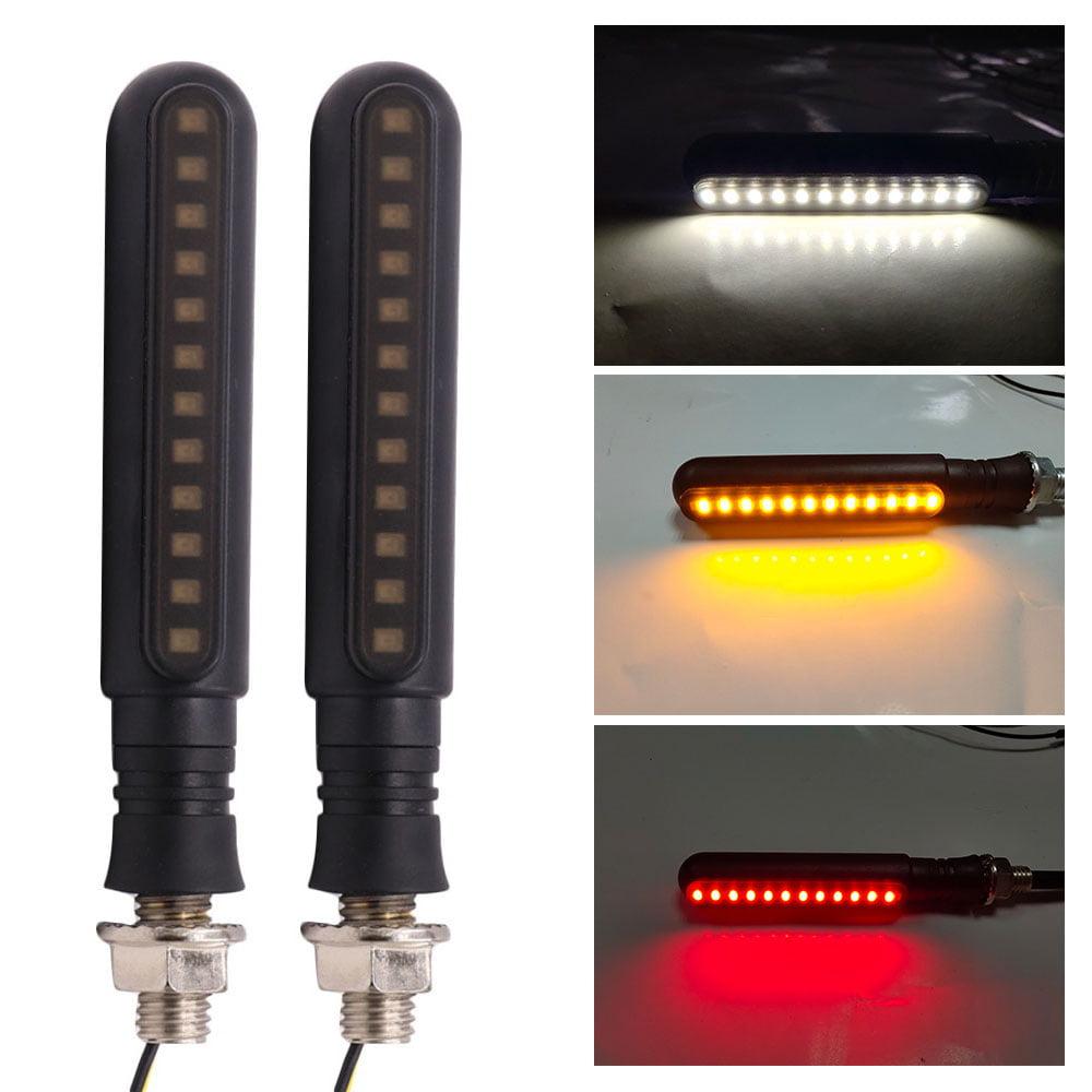KKmoon Feux Clignotants 24 LED Clignotants S/équentiels Feu Diurne Feux Diurnes Arri/ère Feu Clignotant Frein Universel 2 Pcs
